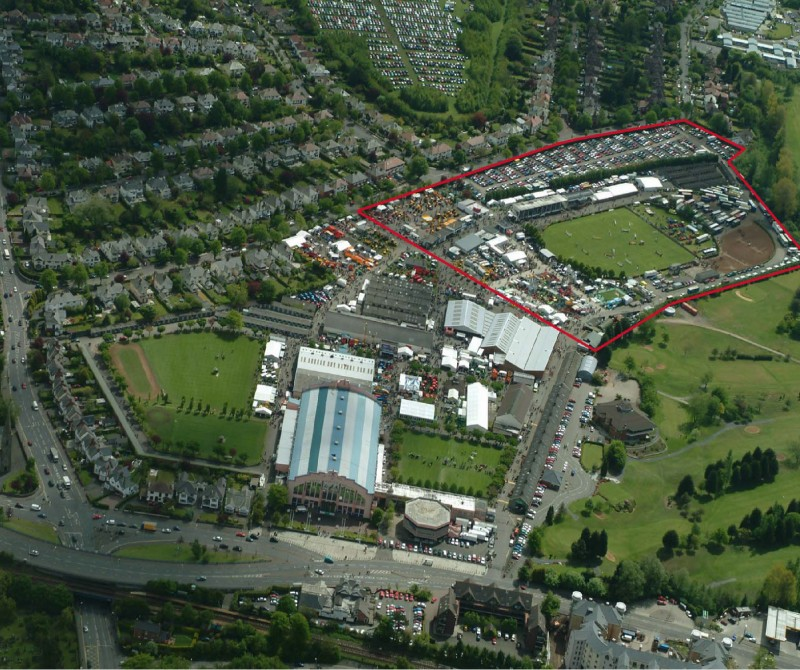 Kings Hall Aerial Image Outlined