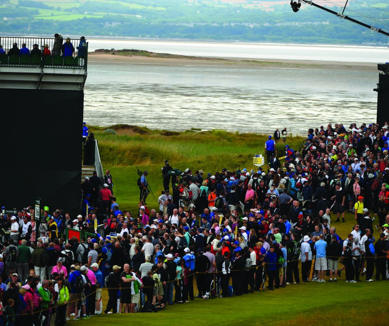 during the third round of The 143rd Open Championship at Royal Liverpool on July 19, 2014 in Hoylake, England.