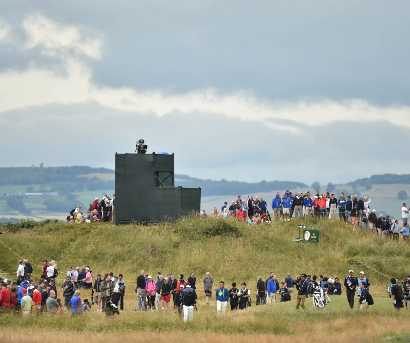 during a practice round prior to the start of the 143rd Open Championship at Royal Liverpool on July 16, 2014 in Hoylake, England.
