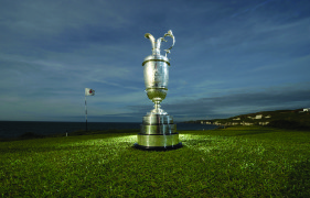 PORTRUSH, NORTHERN IRELAND - JUNE 16:  The Open Championship trophy at Royal Portrush Golf Club on June 16, 2014 in Portrush, Northern Ireland.  (Photo by Charles McQuillan/R&A  via Getty Images)